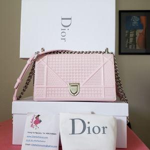 Diorama pink micro cannage motif small bag
